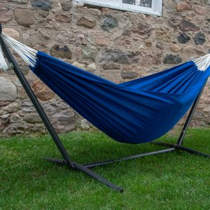 Royal Blue Hammock with Stand (8ft)