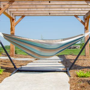 Vivere's Combo - Sunbrella Gateway Mist Hammock with Stand (8ft)