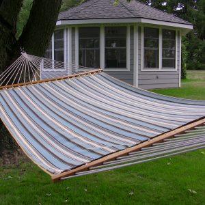 Sunbrella Quilted Hammock - Double (Carnegie Celeste)