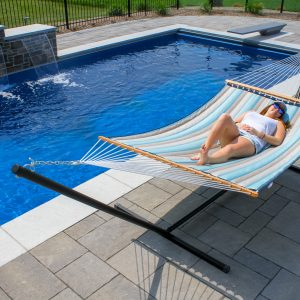 Sunbrella Quilted Double Hammock Gateway Mist