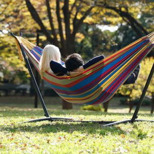 Double Tropical Hammock with Stand (8ft)