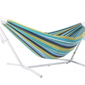 Double Cayo Reef Hammock with White stand