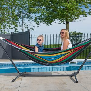 Vivere's Combo - Double Rio Night Hammock with Stand