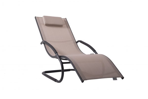 Wave Lounger Macchiato on Grey