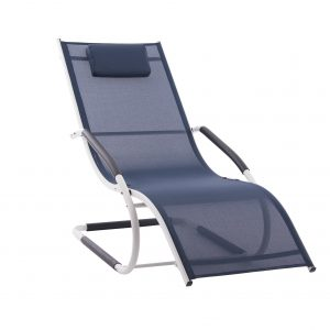 wave lounger navy and white