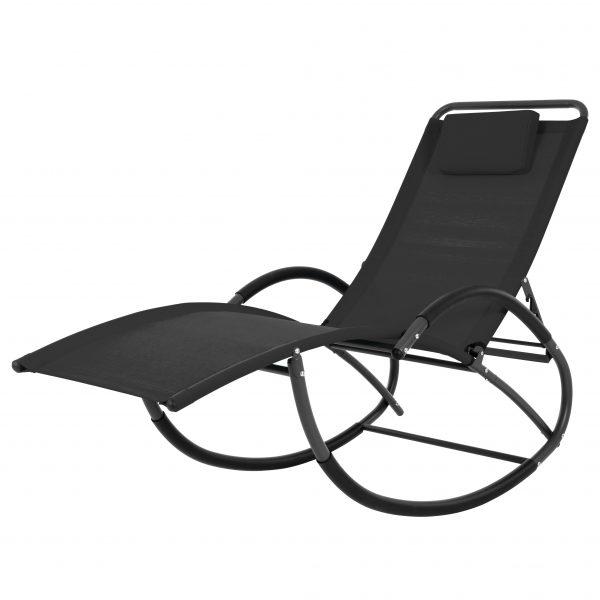 Wave Laze Chair - Steel - Black
